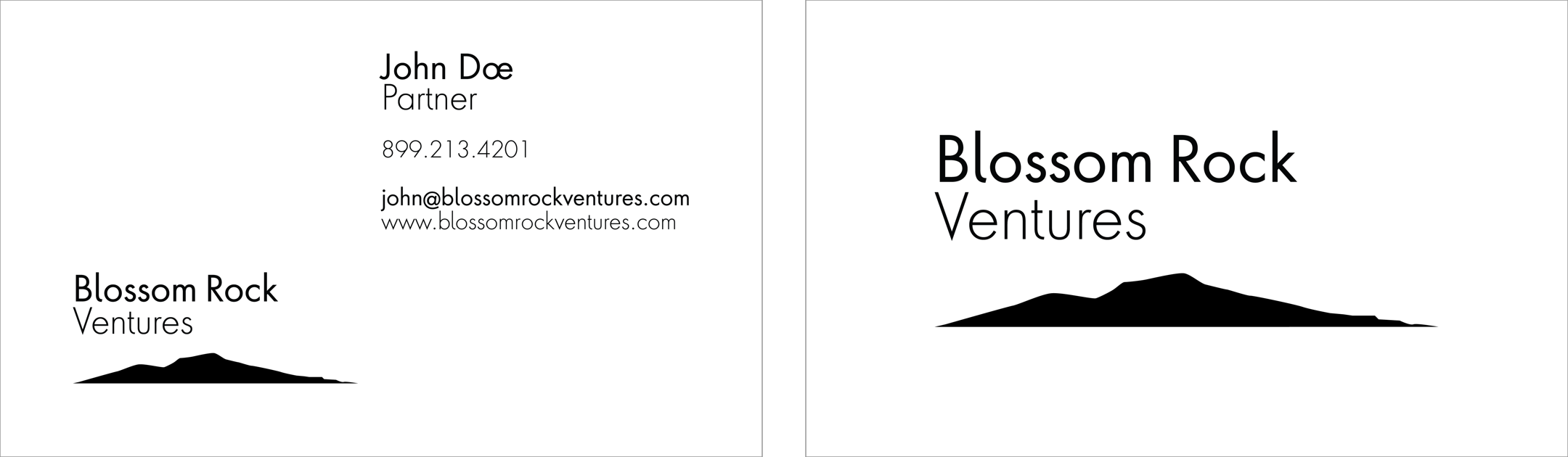 Blossom Rock Business Cards Front and Back